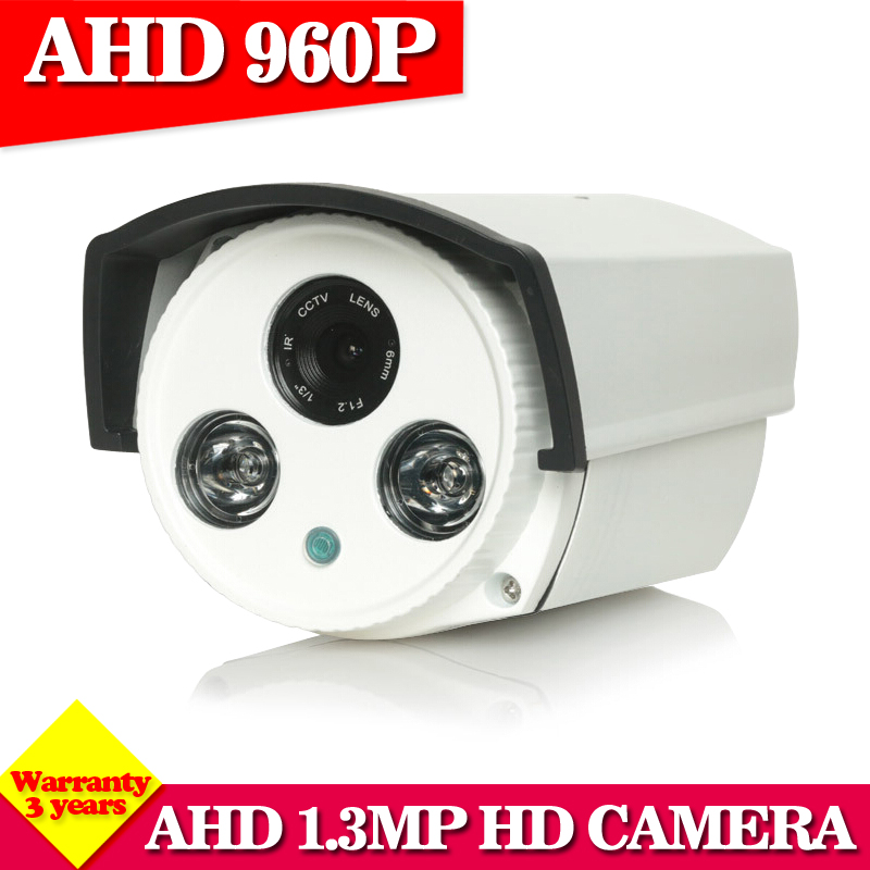 AHD camera 960P 1.3MP Array Bullet high power array leds camera waterproof night vision IR cut filter 1/3 serveillance home hot ahd camera 960p 1 3mp sony imx238 chip high power array leds waterproof clear night vision ir filter 1 3 serveillance camera