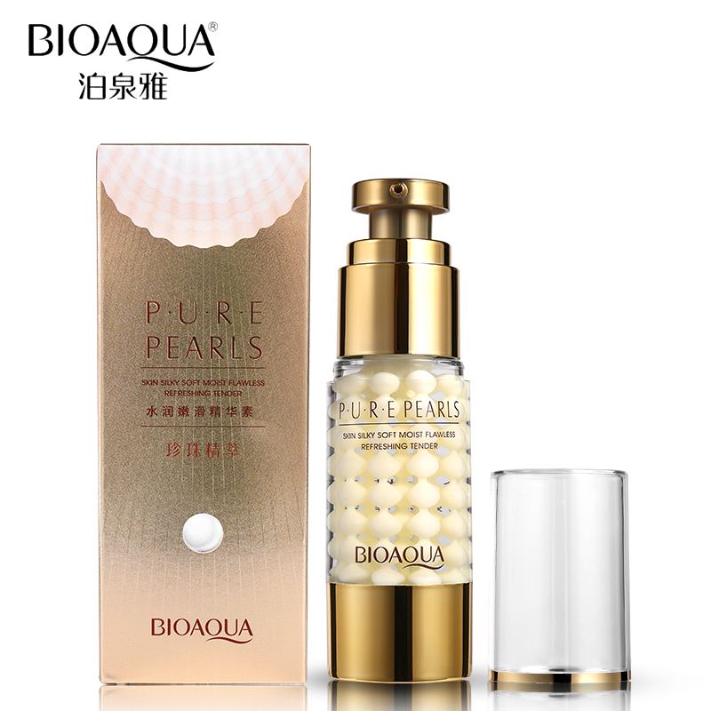 BIOAQUA Brand Pure Pearl Collagen Hyaluronic Acid Face Skin Care Moisturizing Hydrating Anti Wrinkle Anti Aging Essence Cream