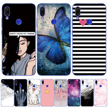 "For Xiaomi Redmi Note7 PRO Case Silicone Soft Fundai Redmi Note 7 Black TPU Case Protector 6.3"" Cellphone Cover Marble(China)"