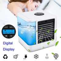 2020 New USB Humidifiers Mini Air Conditioners With 7 Colors Light Portable Space Air Cooler Table Fans Device For Refrigerating