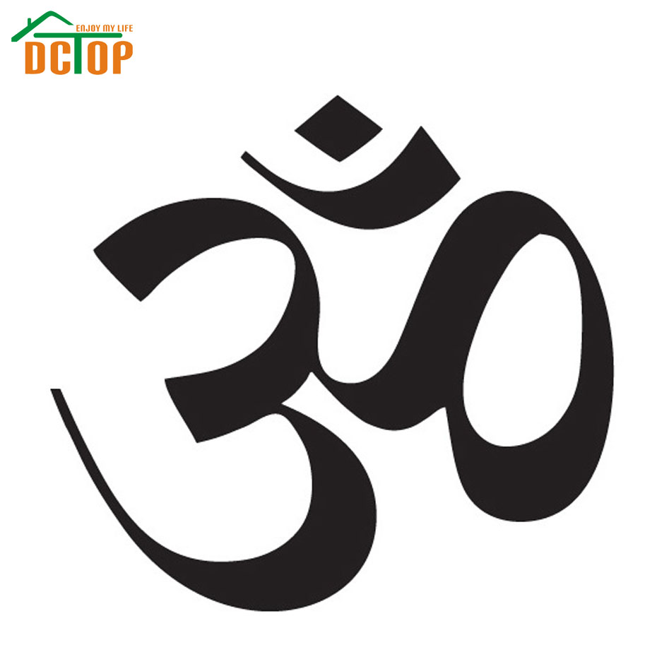 Dctop Hot Sale Om Sign Wall Sticker Yoga Removable Home