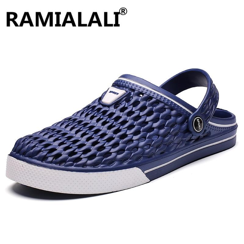 8bcfe5fba267 Summer Men s Sandals Garden Clogs Slippers Beach Sandals for Men New  Fashion Footwear Men Slides Water