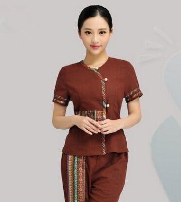 Coffee spa clothing for women beauty spa uniform salon for Spa uniform alibaba