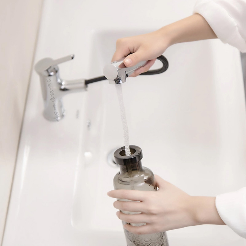 Image 4 - Xiaomi Mijia Dabai Bathroom Basin Faucet With Pull Down Sprayer 2 Spray Mode Single Lever Handle Mixer Tap-in Smart Remote Control from Consumer Electronics