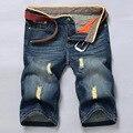 2016 Verano Pantalones Vaqueros Cortos de Los Hombres Pantalones de Mezclilla Ropa de Gran Venta de Verano Nueva Marca de Moda de Los Hombres Pantalones Cortos Pantalones Cortos de Mezclilla