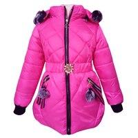 2019 Girls Clothes Children Winter Thick Warm Slim Waistband Girl Cotton Down Jacket Coats