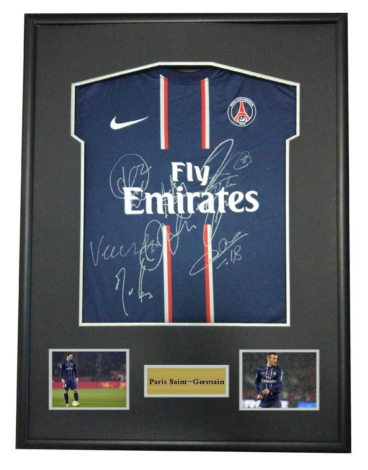 Ibrahimovic David Beckham signed autographed soccer shirt jersey come with  Sa coa framed Paris Saint Germain 6c4dd4f80