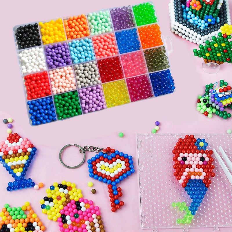 Water Spray Magic Qua Hand Making 3D Puzzle Beadbond DIY Beads Kit Ball Toys For Children Educational Game Beads Juguetes