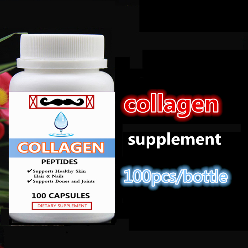 Pure Hydrolyzed Collagen Peptides Supports Healthy Skin,Hair & Nails Supports Bones and Joints 100pcs/bottle