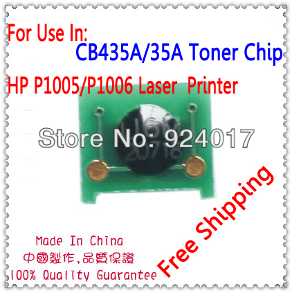 For <font><b>HP</b></font> CB435A 435A 35A 435 CRG-91 CRG91 CRG 91 <font><b>Toner</b></font> Chip,For <font><b>HP</b></font> P1005 <font><b>P1006</b></font> 1005 1006 Canon LBP 3018 3010 3100 3150 <font><b>Toner</b></font> Chip image