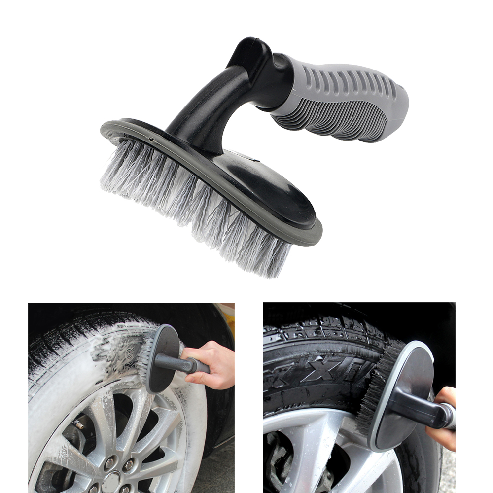 Car Tyre Brush Dust Remove Tire Wheel Cleaning Car Wash Universal Duster Auto Care Washing Tool Scrub