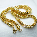 Men's Gold tone Stainless Steel Chain Pendant Necklace 60cm Length; 6mm N304