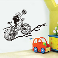 Free Shipping Dirt Bike Motocross Sport Wall Sticker Vinyl Decal For Bedroom Art Decoration Removable Wall