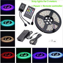 GentelWay LED Strip Flexible Light waterproof Tape Lights 5M 5050SMD RGBW strip lighting for house outdoor Christmas decoaration