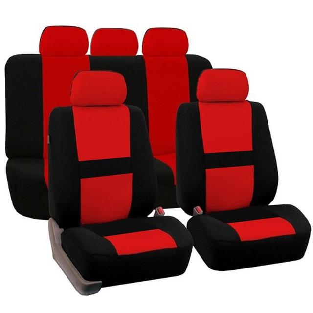 9Pcs Universal Car Seat Covers Full Set For Four Seasons Auto Seat