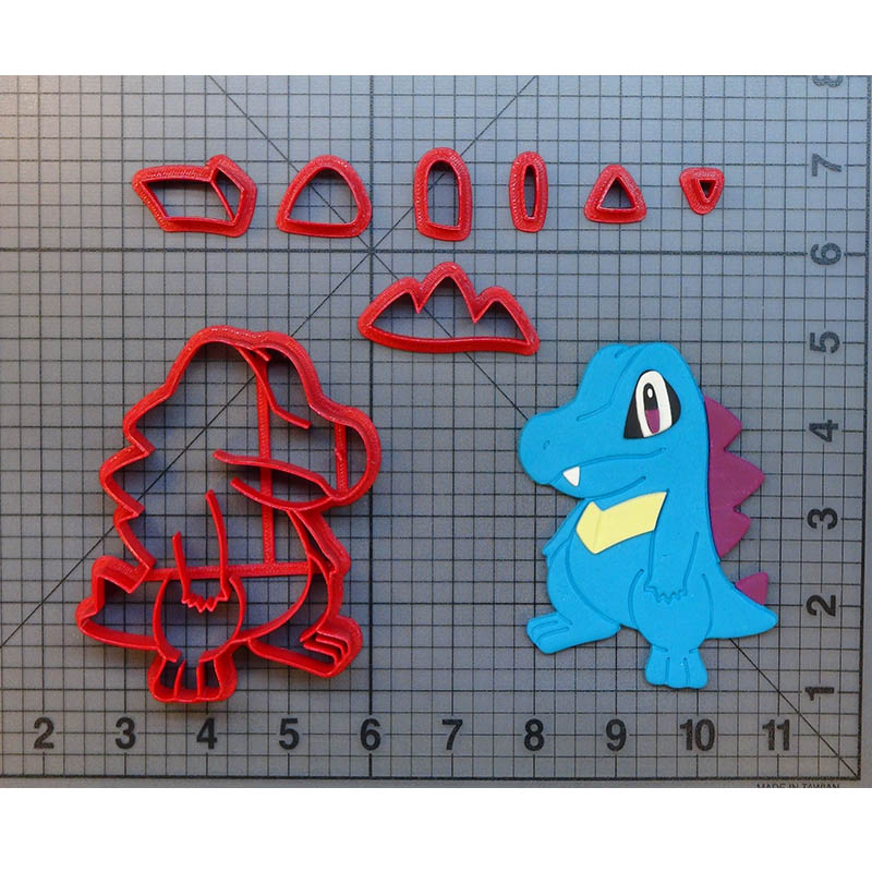 Pokemon Totodile Cookie Cutter Set Gemaakt 3d Gedrukt Fondant Cupcake Top Torchic Kaart Cookie Cutter Set Cake Dectoration Gereedschap Makkelijk Te Gebruiken