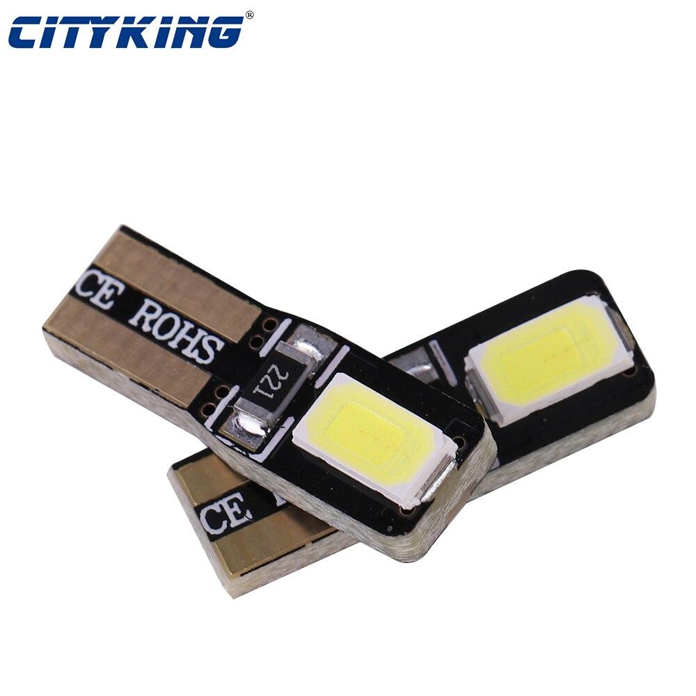 10 шт. авто светодиодные T5 2721 W3W W2* 4.6d 5730 SMD инструмент: Клин Индикатор светильник спидометра кластера тире светильник 10-15V DC