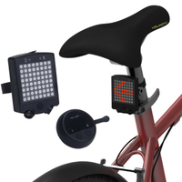 bike light usb rechargeable wireless remote 64 LED bicycle laser safety warning turn signals luz bicicleta bicycles accessories