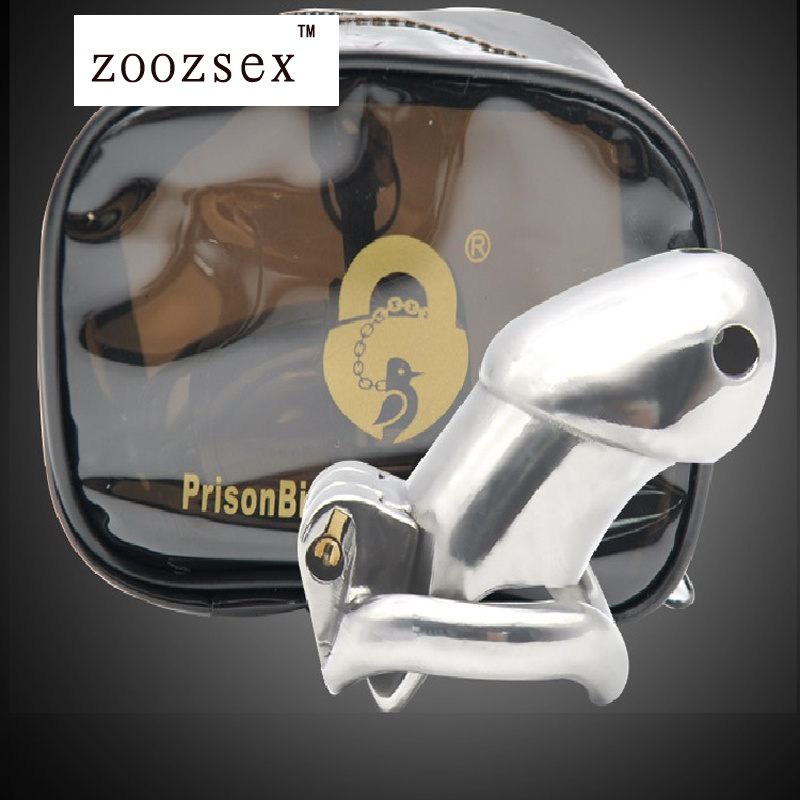 ФОТО Sex product Long Steel Male Lock cage Male chastity man birdlock male cages bound chastity device cage lock penis bondage