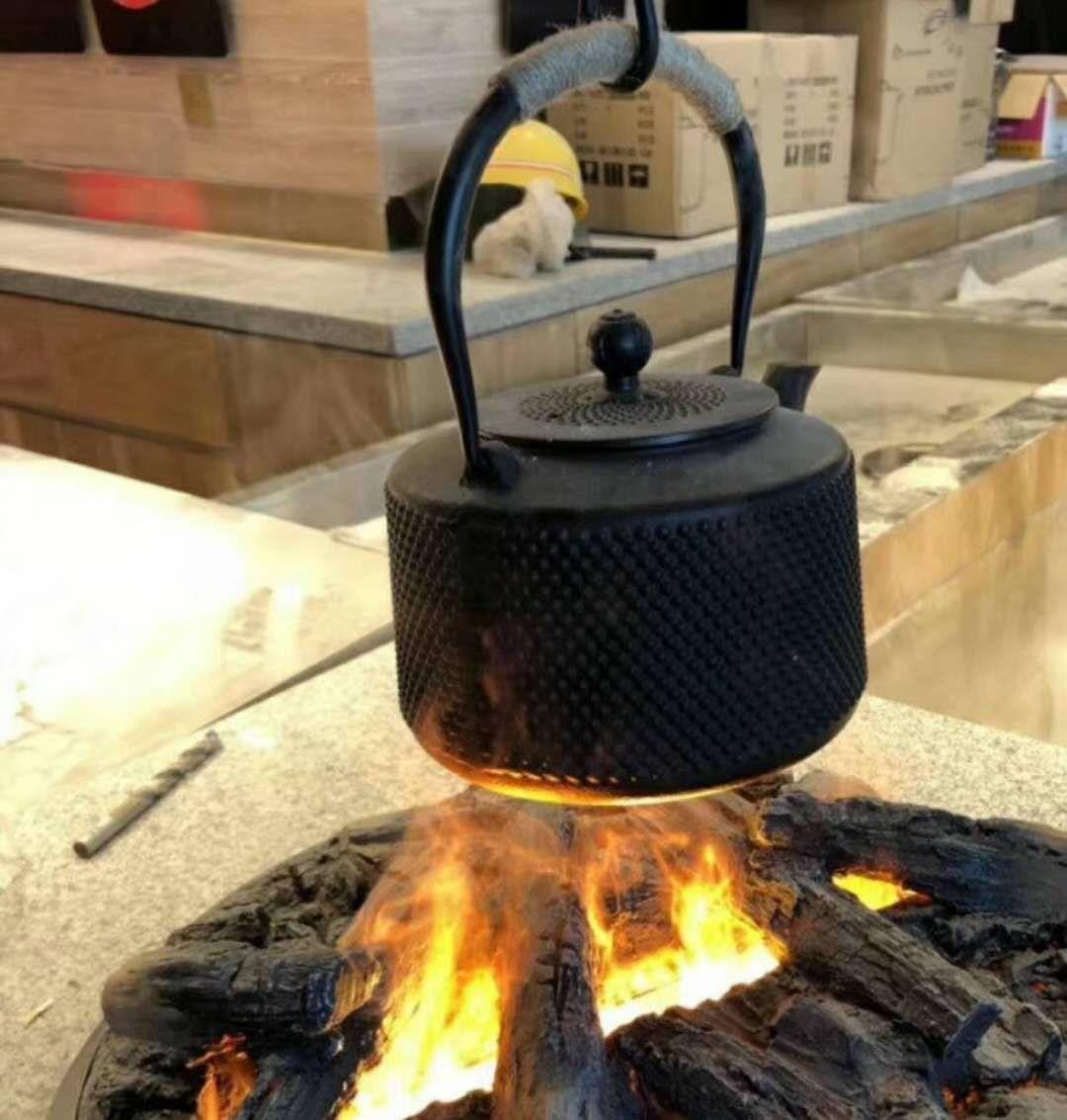 3D атомизация электрический камин паровой камин отель клуб Атмосфера Свет Украшение Моделирование трехмерное пламя