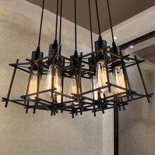 Vintage Hanging Pendant Lights Fixture Black Home Indoor Lighting American Industrial Retro Droplight Hanging Lamps Luminaire