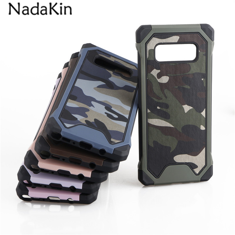 new product a9e04 9e99a US $2.59 35% OFF|For Samsung Galaxy Note 8 Military Camouflage Case  Defender Shockproof Drop proof Heavy Armor Back Cover for Samsung Note8-in  ...