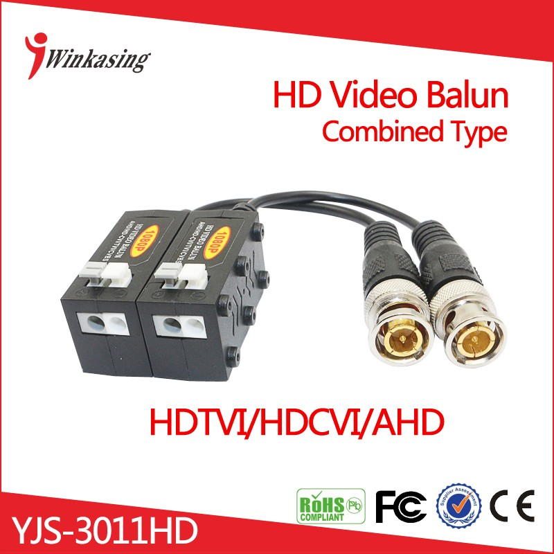 New product 2016 CVI TVI AHD HD CCTV Video Balun Combined Design Randomly UTP YJS 3011HD