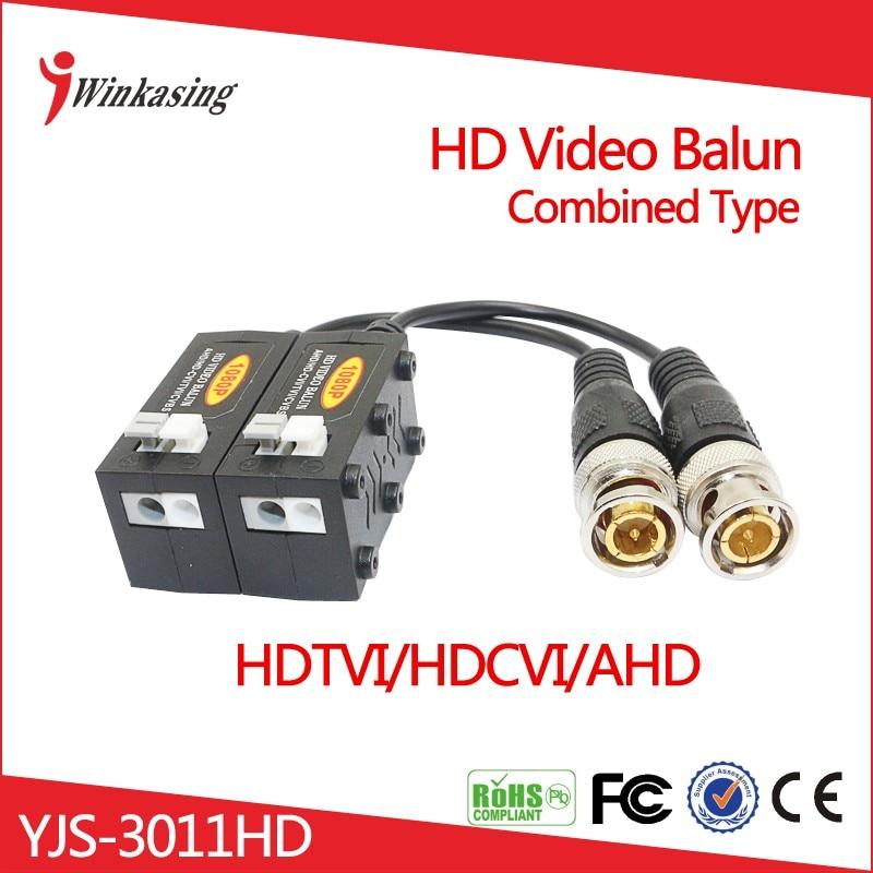 Nuevo producto 2016 CVI TVI AHD HD CCTV Video Balun UTP YJS 3011HD Combinado Diseño Al Azar-in Transmisión y cables from Seguridad y protección on AliExpress - 11.11_Double 11_Singles' Day 1