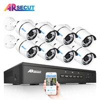 ARSECUT 8CH IR HD CCTV Security Wireless POE NVR CCTV Set Outdoor Wifi Cameras Video NVR