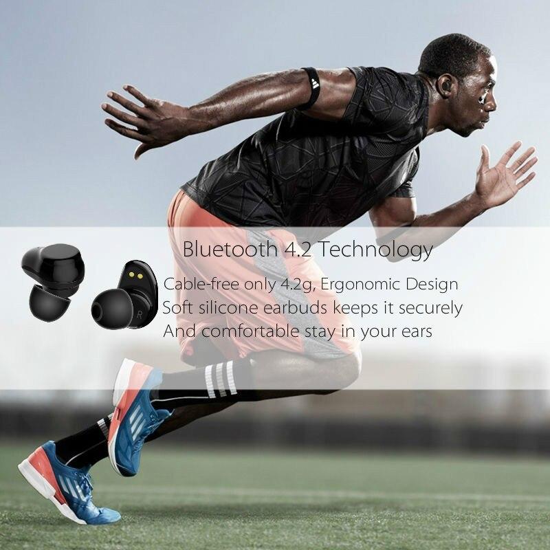 Rockspace negocios auriculares Bluetooth Wireless 3D Hifi auriculares estéreo de auriculares y banco de potencia con micrófono manos libres llamadas - 3