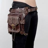 Motorcycle Bag Steampunk Tank Bag Motorbike PU Leather Sportster Riding Waist Bags Motorcycle Backpack Thigh Drop Leg Bag