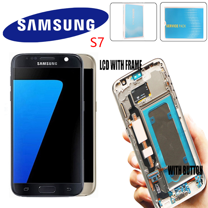 5 1 Display For Samsung Galaxy S7 G930 G930F LCD With Touch Screen Digitizer Assembly Repair