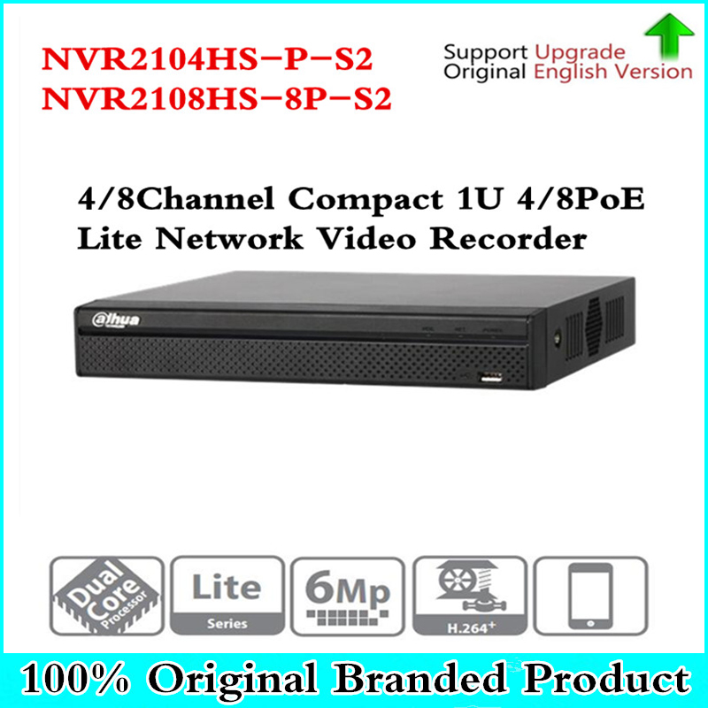 купить Original NVR2104HS-P-S2 NVR2108HS-8P-S2 4/8 Channel POE NVR 1U PoE Network Video Recorder Full HD 6MP Recording For IP Camera по цене 7538.88 рублей