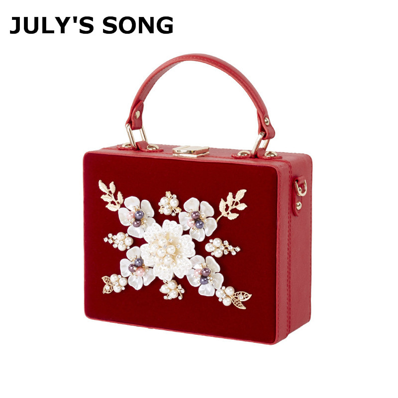 Women Luxury Evening Bags Wedding Party Pearl Flower Bride Handbag Crossbody Velour Hard Box Clutch Crystal Diamond Chain BagWomen Luxury Evening Bags Wedding Party Pearl Flower Bride Handbag Crossbody Velour Hard Box Clutch Crystal Diamond Chain Bag