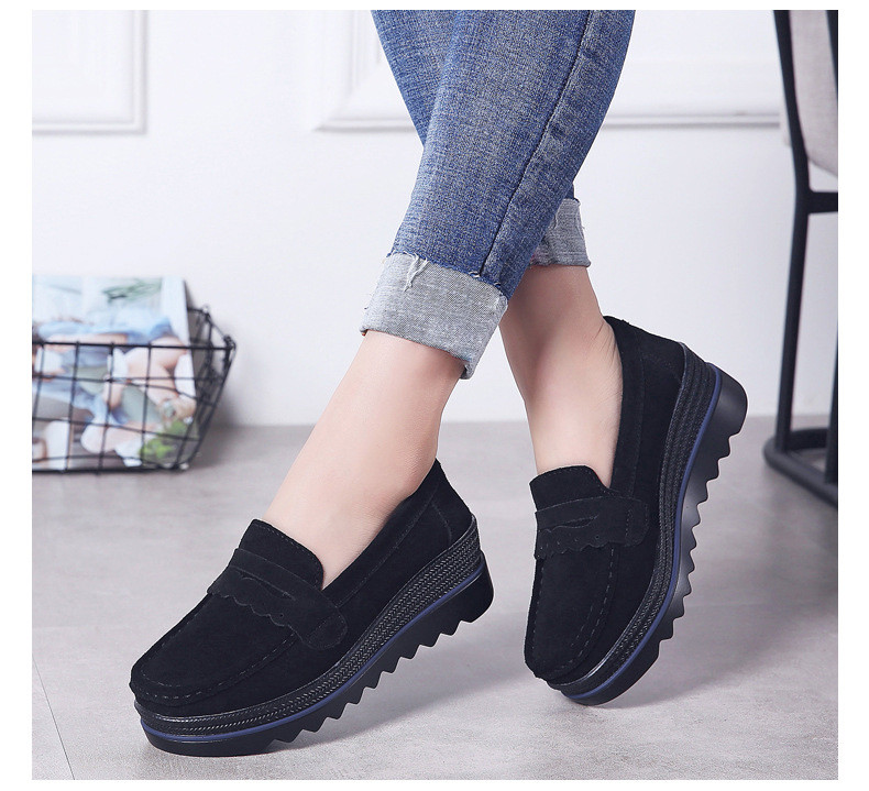 HX 8775-Spring Autumn Genuine Leather Women Shoes-11