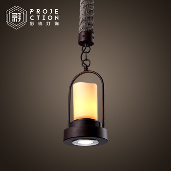 Loft retro industrial American country marble candle stick pendant lamp  coffee bar   restaurant