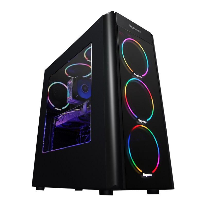 Kotin A9 Ryzen 5 2600 Hexa Core Gaming PC Desktop GTX1060 5GB GPU 120GB SSD 8GB RAM Computer 4 RGB Fans For PUBG Cool Desk PC