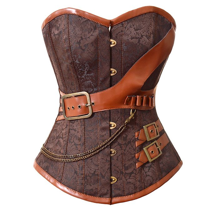 New Women's Vintage corset Retro Gothic Boned Brocade Steampunk waist training Bustiers Corsets cosplay clothing Plus size 6XL