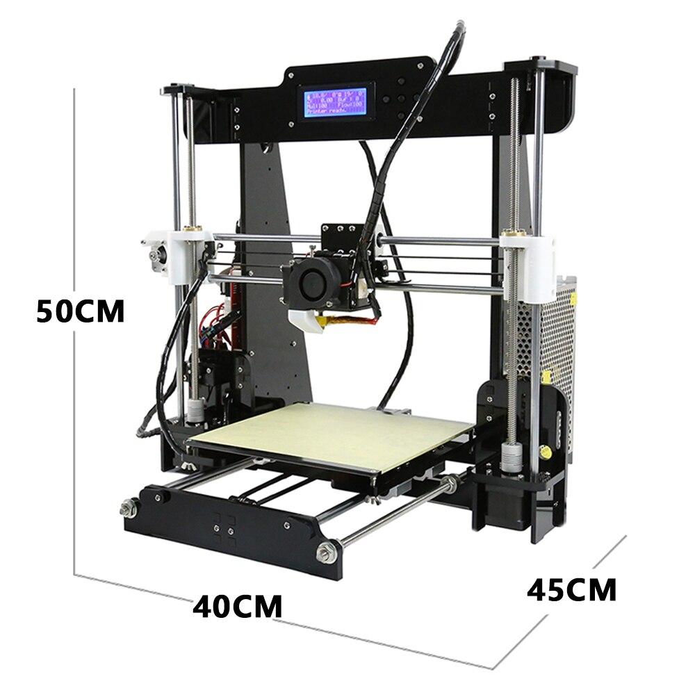 Anet A8 Auto niveau A8 3d imprimante Prusa i3 3d imprimante Kit diy 0.5 kg PLA filament comme cadeaux gratuite de Moscou Russe Entrepôt - 2