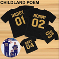 2017 summer matching family clothes T-shirt Family Matching Outfits  Cotton Short-sleeved Family Look Family matching clothes