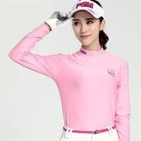 PGM Golf Trainning T-shirts Golf Shirts Damen Baumwolle frauen Winter Golfplätze Kleidung Langarm-shirt Unterwäsche Polo Shirts Gym