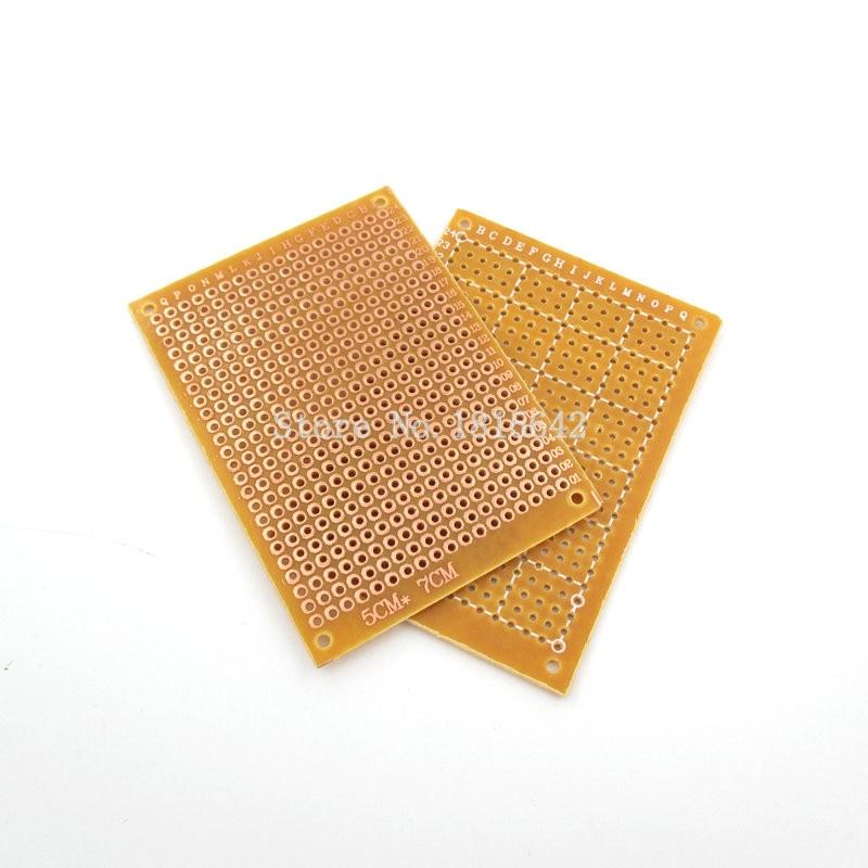 5PCS/LOT new Prototype Paper Copper PCB Universal Experiment Matrix Circuit Board 5x7cm Brand