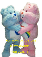 bear mascot costume adult size factory custom 1 piece blue/pink care bear them anime cosplay costumes carnival fancy 2954