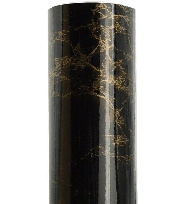 Gold In Black Marble Self Adhesive Waterproof Wallpaper Vinyl   Wall Sticker