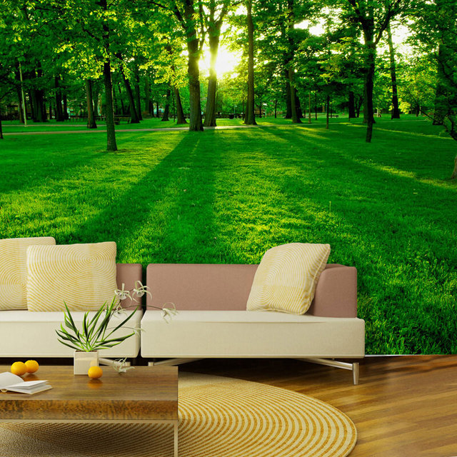 Beibehang 3d wallpaper grünes auge stereoskopischen wohnzimmer sofa ...