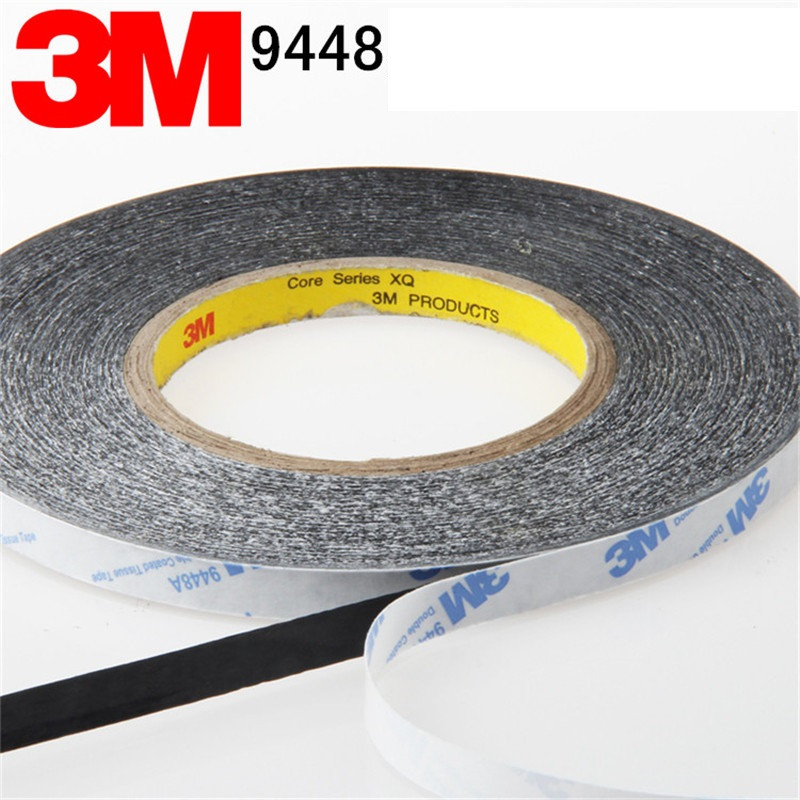 3M9448A Tape 2 mm x 50m Sticker Double Sided Adhesive Tape Cellphone Touch Screen LCD Repair fix For Screen LCD Glass szbft 1mm black brand new 3m sticker double side adhesive tape fix for cellphone touch screen lcd free shipping