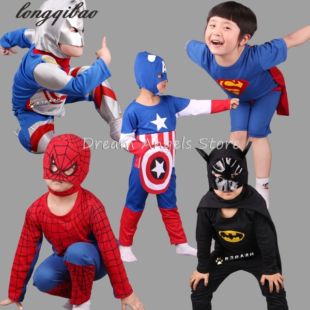 2017 New Spider Man Children Clothing Sets Boys Spiderman Cosplay Sport Suit Kids Sets jacket + pants 2pcs. Boys Clothes