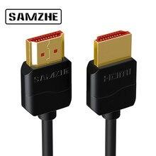 HDMI кабель от SAMZHE 4 K 50/60 Гц HDMI 2,0 кабель для тонкий hdmi-кабель для Apple ТВ PS3 проектор HD ЖК-дисплей компьютерные кабели 0,5 м 1 м 1,5 м 2 м