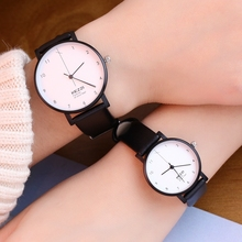 Watch personality simple couple table casual business men's watch female student leather watchband waterproof watch