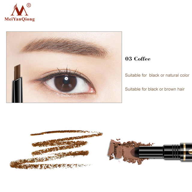 Air Cushion Triad Eyebrow Pencil Waterproof Longlasting Triangle Natural Make Up Eye Brow Liner With Brush Makeup Tools 3in1 3